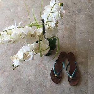 Tory Burch Terra Flip Flip Sandal (Blue) 8.5